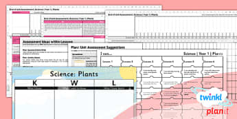 Science: Plants Year 1 Unit Assessment Pack