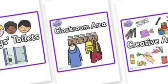 Square Classroom Area Signs (Octopus) - Classroom Area Signs, octopus, under the sea, KS1, Banner, Foundation Stage Area Signs, Classroom labels, Area labels, Area Signs, Classroom Areas, Poster, Display, Areas