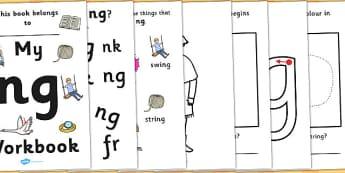 My 'ng' Letter Blend Workbook - workbook, ng, letters, blend, alphabet, activity, handwriting, blends, letter, letter blends