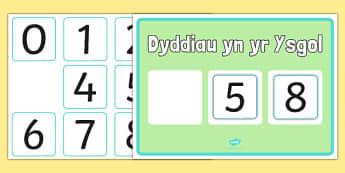 Poster Cyfri nol 100 o ddyddiau - welsh, cymraeg, poster, cyfri yn ôl, dyddiau