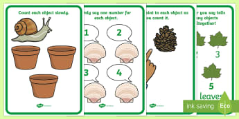 Careful Counting Prompts  Display Posters - Mathematics, Counting, Irregular Arrangement of Objects, Number, Early Years, EYFS, Help, Tips