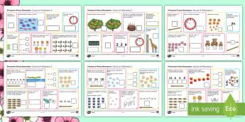 Prima Elementare Esercizi di Matematica Attività - prima, elementare, matematica, esercizi, problemi, materiale, scolastico, addizioni, sottrazioni, co