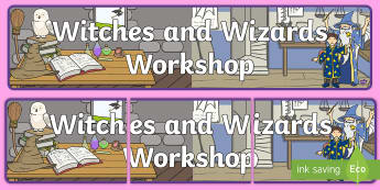 Witches and Wizards Workshop Role Play Banner - Witches and Wizards Workshop Role Play Banner - witches, wizards, grocery store, abnner, rol eplay