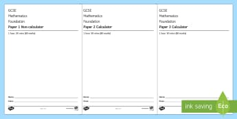 GCSE Practice Foundation Papers 1, 2 and 3 Exam Questions Pack - Exam practice, Assessment objectives, Edexcel, aqa, ocr, assessment, mock, example