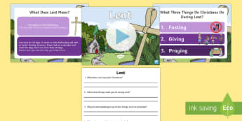 Lent Resource Pack - Lent, Ash Wednesday, Christians, Easter.