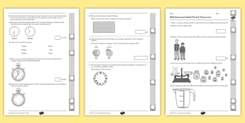 Grade 3 Measurement Term 2 Test - Math, Primary, Grade 3, Measurement, Time, Length, Number Sense and Numeration, Addition, Subtractio