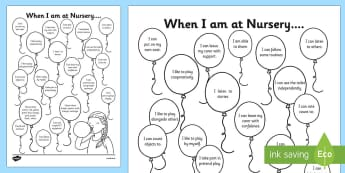 EYFS Balloons Themed On Entry to Nursery Assessment Record - EYFS assessment, inital assessment, nursery assessment, reception assessment, nursery, reception, fs1, fs2, foundation stage,