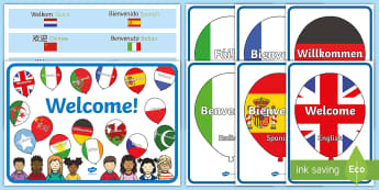 Welcome Balloons Display Pack - EYFS, Start Of Year, Working Wall, Early Years Displays, Foundation Stage Displays, Start Of Term, O