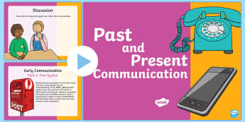 Communication Past and Present PowerPoint - Australian Curriculum  HASS  History of Communication, Year 2 History Content Descriptors and Elabor