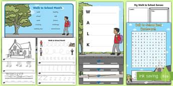 Walk to School Month KS1  Activity Pack