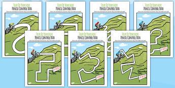 Tour De Yorkshire Themed Pencil Control Path - yorkshire, path