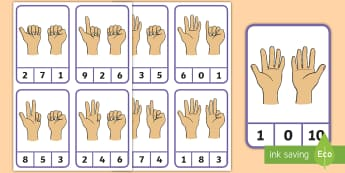 Finger Counting Peg to 10 Number Cards - Finger patterns, counting to 10, counting with fingers, numbers to 10, numeracy,Scottish