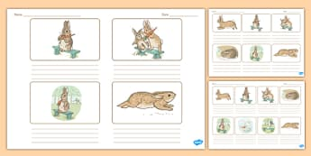 Beatrix Potter - The Story of a Fierce Bad Rabbit Storyboard Templates - beatrix potter, fierce, bad, rabbit