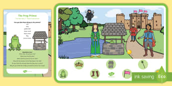 The Frog Prince Can You Find...? Poster and Prompt Card Pack - fairy tale, traditional tale, princess, golden ball,