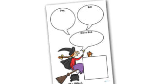 Role on the Wall Worksheet to Support Teaching on Room on the Broom - room on the broom, role on the wall, worksheets, room on the broom worksheets, role on the wall worksheets