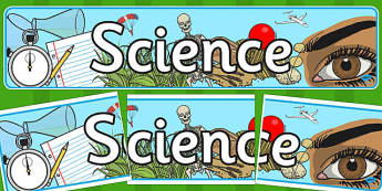 Science Display Banner - science, science banner, science display, science display resources, science display header, science and investigation, banner