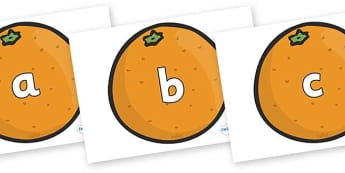 Phase 2 Phonemes on Oranges - Phonemes, phoneme, Phase 2, Phase two, Foundation, Literacy, Letters and Sounds, DfES, display