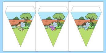 Fairy Garden Display Bunting - fairy, garden, display, bunting