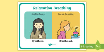 Relaxation Breathing Display Poster - S.P.H.E. SPHE, breathing, calming down, calm, relaxation, mindfulness,