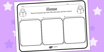 Nouns Comprehension Worksheet - nouns, comprehension, comprehension worksheet, character, discussion prompt, reading, discussions, noun worksheets, words