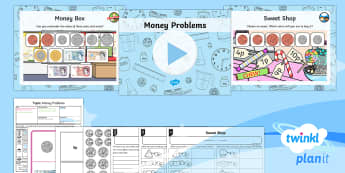 PlanIt Y1 Measurement Coins and Notes (3) Lesson Pack - Measurement, measures, recognise coins and notes, coins, notes, money, denominations, value.