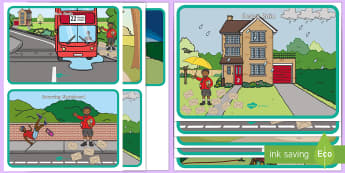 Postman's Lost Letters Discussion Prompt Cards - Early Years, EYFS, Maths, Numeracy, Number, Counting, Irregular Arrangment of Objects, People who he