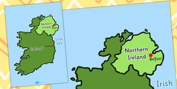 Map of Ireland - map, ireland, countries, dublin, belfast, north