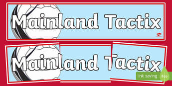 Mainland Tactix Netball Display Banner