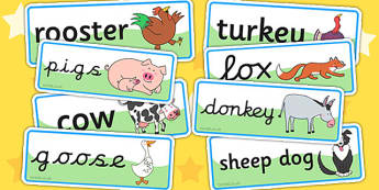 Word Cards to Support Teaching on Farmyard Hullabaloo - farm, word cards, visual aids