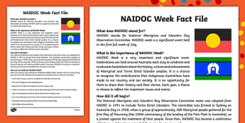 NAIDOC Week Fact File