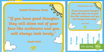 KS1 Kindness Week 'Kind Thoughts' Tear-Off Strips Display Poster - Twinkl Kindness Week, kindness week, twinkl kindness week, kind resources