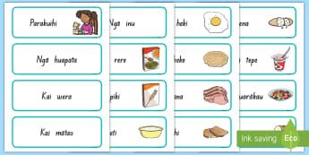 Parakuihi Word Cards - Parakuihi Word Cards - NZ, breakfast, cards, vocabulary, maori, te reo maori, kai, food, parakuihi,