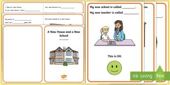 A New House and a New School Social Situation - transition, school, home, house, social story, social stories