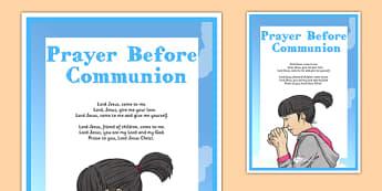 Prayer Before Communion Display Poster - irish, gaeilge, prayer, before, communion, display poster, display, poster