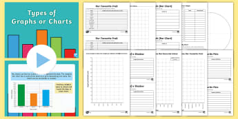 KS2 Types of Graph or Chart Maths Resource Pack - interpret and present data using bar charts, pictograms and tables, interpret and present discrete a