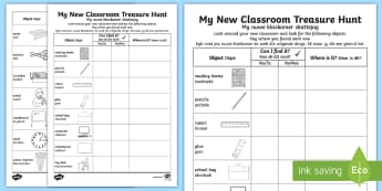 My New Classroom Treasure Hunt Afrikaans Translation - English / Afrikaans - My New Classroom Treasure Hunt - new classroom, treasure hunt