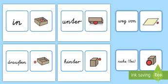 Positionen Ausdrücke Memory Karten - Positionen, Ausdrücke, Memory-Karten, Memorykarten, Lage, Stellung, Mathe, Deutsch, Schreiben, Druc