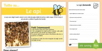 Le Api Lettura Comprensiva - le, api, lettura, comprensiva, esercizio, lettura, leggere, italiano, italian
