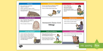 Vikings CfE Homework Grid - Vikings, Active homework, homework grids, homework, home learning tasks, activities, ideas, people p