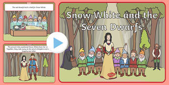 Snow White and the Seven Dwarfs Story PowerPoint - snow white and the seven drawfs powerpoint, snow white powerpoint, snow white story powerpoint