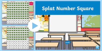 Splat 100 Square -  - 100 square, splat, number square, interactive