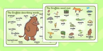 The Gruffalo Word Mat Images Arabic Translation - arabic, gruffalo
