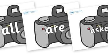 Tricky Words on Cameras - Tricky words, DfES Letters and Sounds, Letters and sounds, display, words