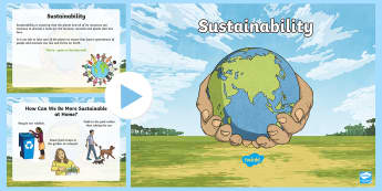 Sustainability PowerPoint - Australia YR 3 and 4 Design Technology, sustainability, sustainable, recycling, recycle, renewable,