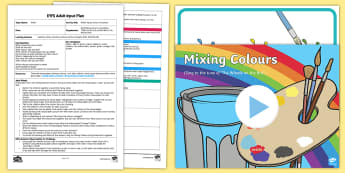 EYFS Water Spray Colour Creations Adult Input Plan and Resource Pack - EYFS Water, craft, creative, colours, run, mix, change, primary colours, secondary colours, tissue p