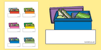Lunch Box Themed Self Registration Labels - lunch box, self registration, labels, display