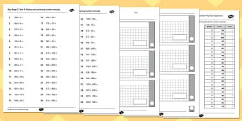 Key Stage 2 Arithmetic Test Year 3 Content Practice Questions