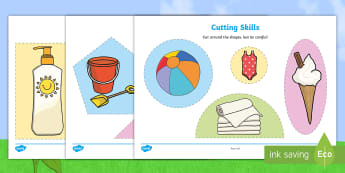 Summer-Themed Cutting Skills Activity Sheets - NI Summer, cutting skills, summer activities, end of term, last week of term, summer term, worksheet