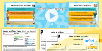 PlanIt Y5 Number and Place Value Lesson Pack Place Value (1) -  million, represent, read, write, singapore maths, shanghai maths