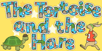 The Tortoise and The Hare Display Lettering - story book, display
